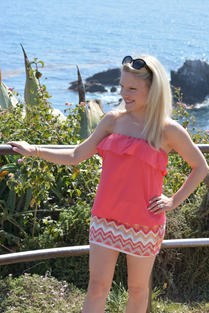 lucy love top, aztec skirt, bright summer outfit