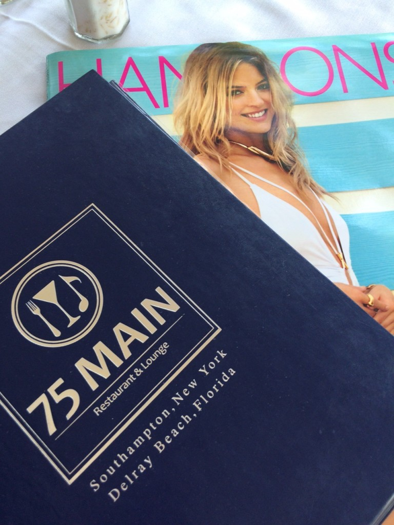 75 Main menu and Hamptons magazine Caitlin Hartley of Styled American