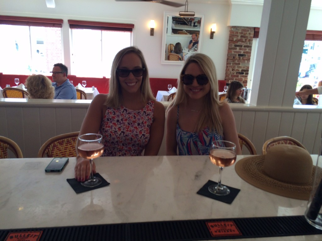 girls drinking rose in the hamptons Caitlin Hartley of Styled American