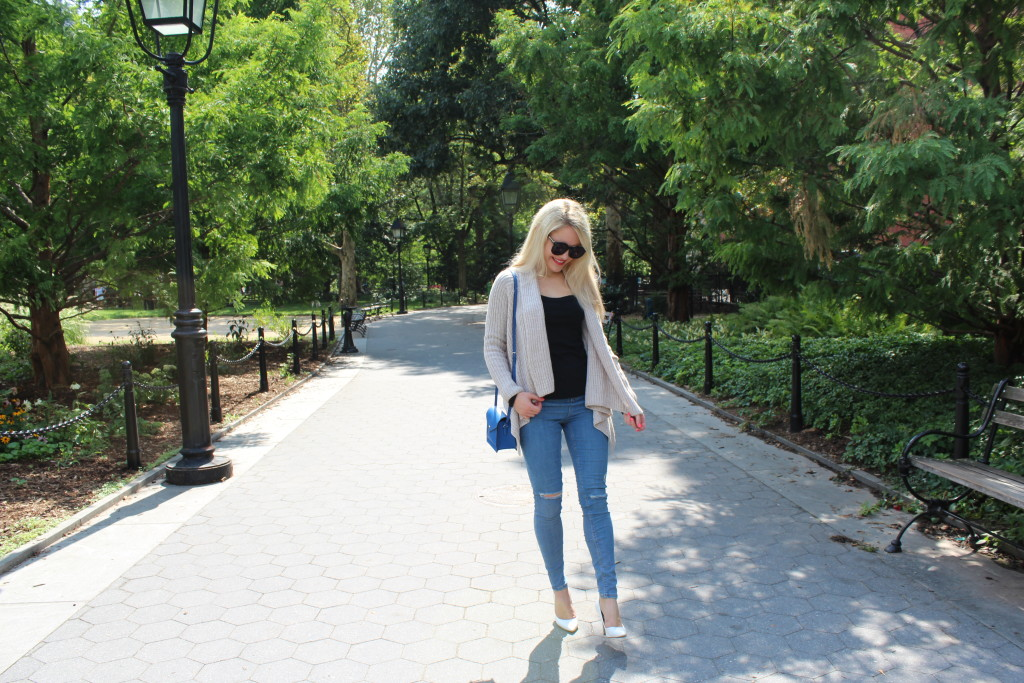 girl walking in a park, fashion blogger Caitlin Hartley of Styled American http://styledamerican.com/walk-in-the-park-2/