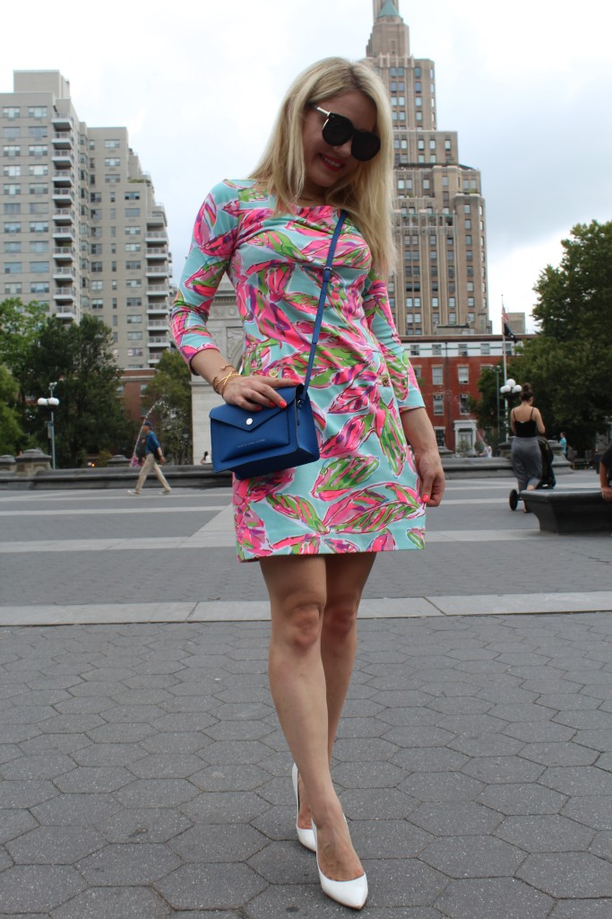 Lilly Pulitzer work dress Caitlin Hartley of Styled American http://styledamerican.com/floral-work-dress/