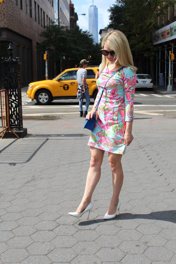 new york street style Caitlin Hartley of Styled American http://styledamerican.com/floral-work-dress/
