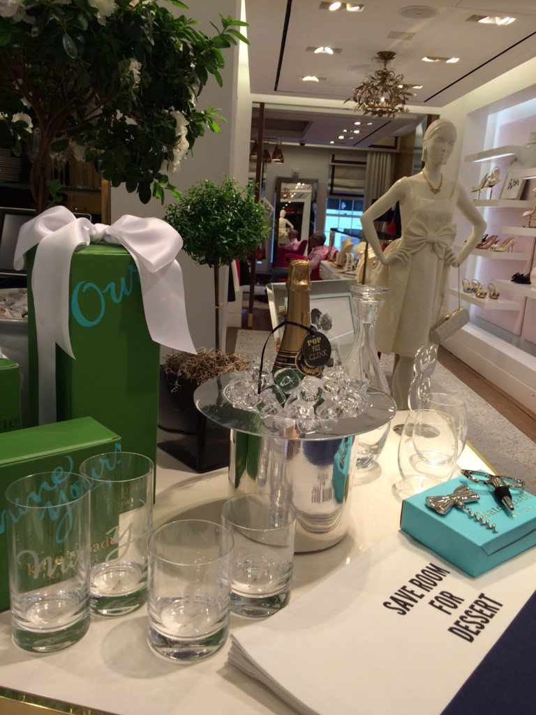 Caitlin Hartley of Styled American Kate Spade display in store