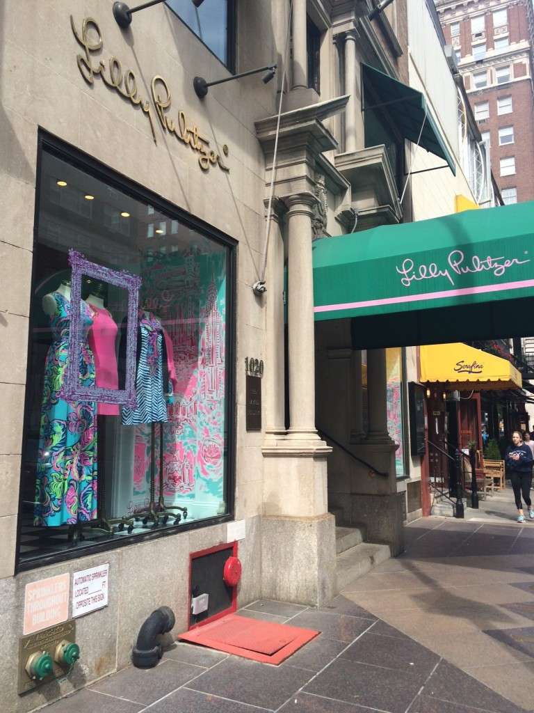 Caitlin Hartley of Styled American Lilly Pulitzer on Madison Avenue in NYC