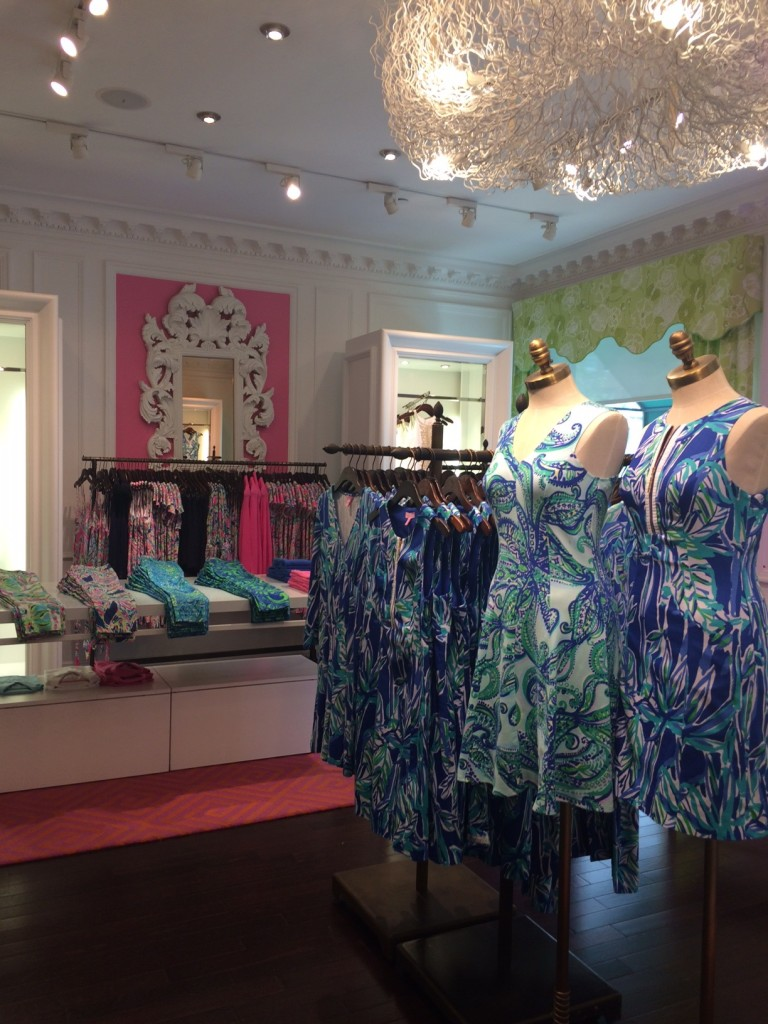 Caitlin Hartley of Styled American inside Lilly Pulitzer store