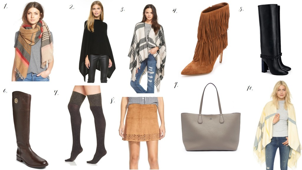 Fall fashion picks, ponchos, blanket scarfs, oversized plaid scarfs