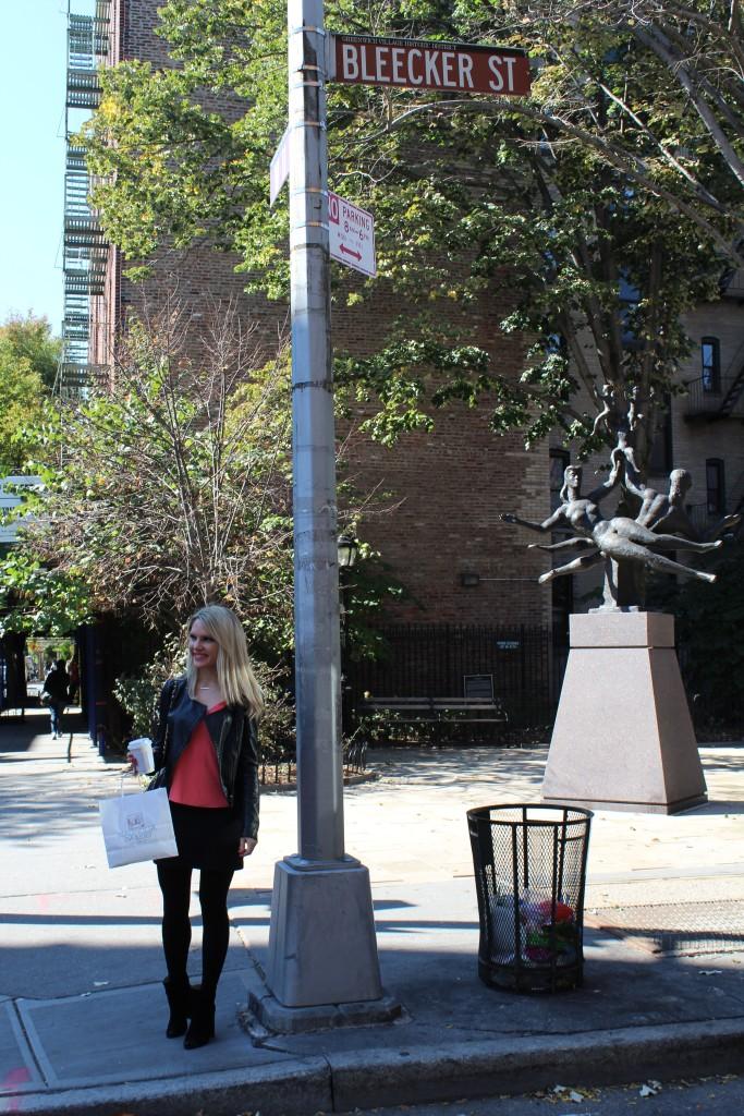 Caitlin Hartley of Styled American girl on Bleecker Street