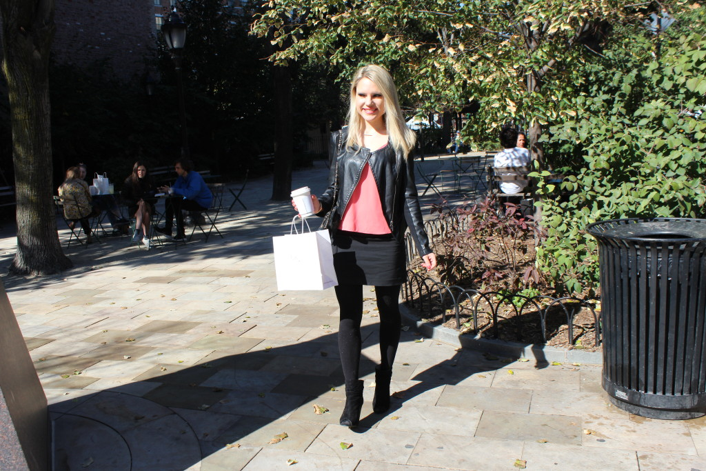 Caitlin Hartley of Styled American fitted leather jacket