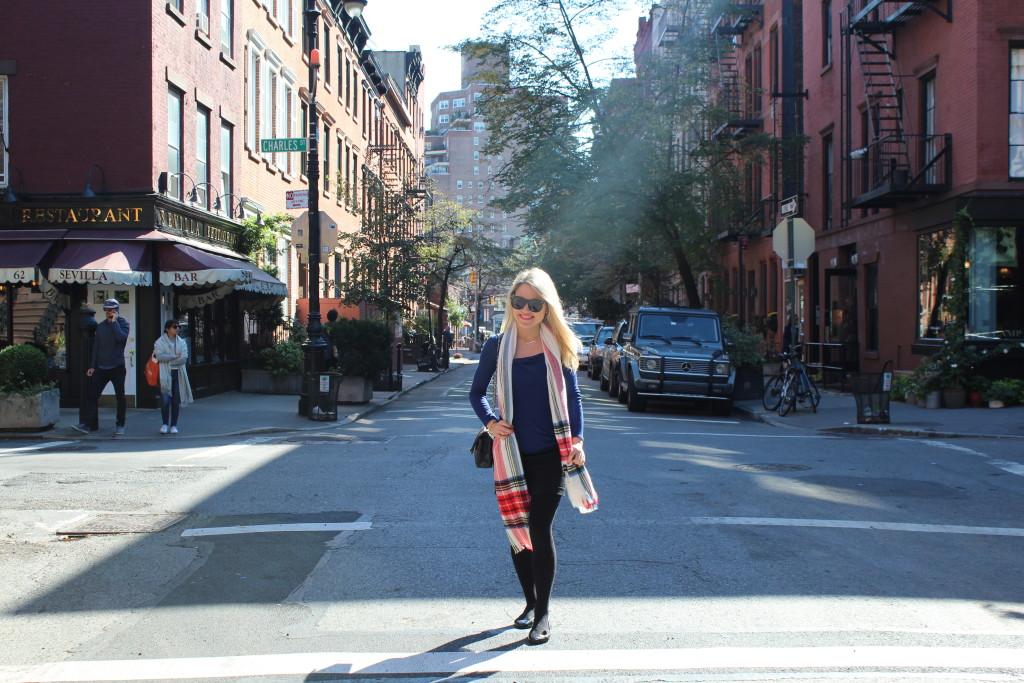 Caitlin Hartley of Styled American plaid scarf