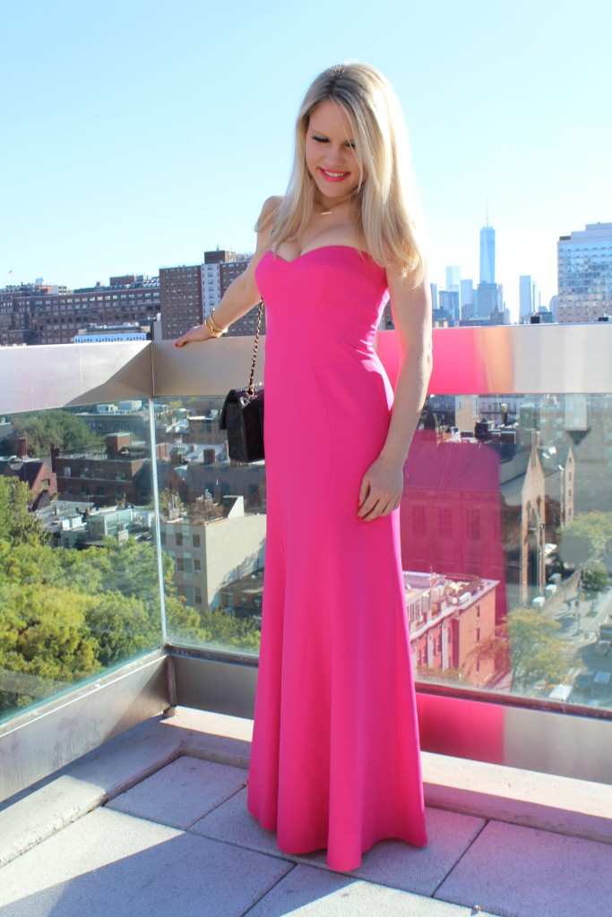 Caitlin Hartley of Styled American pink dresses