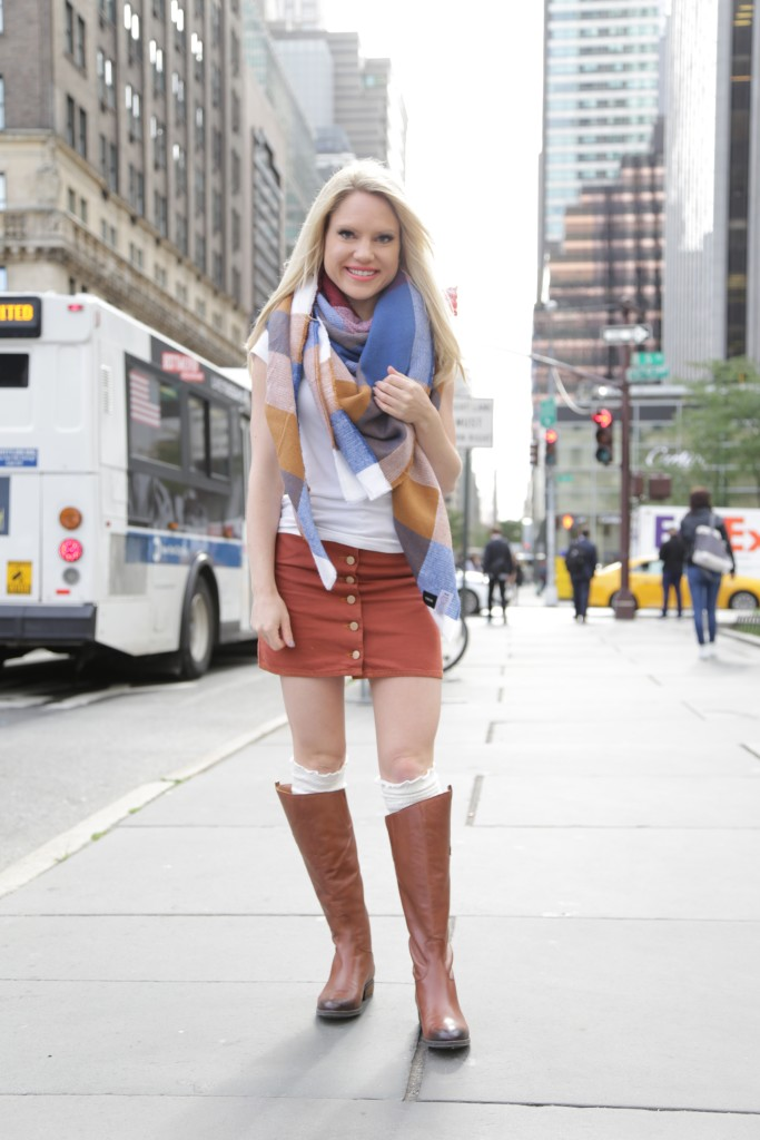 Caitlin Hartley of Styled American street style, ridding boots