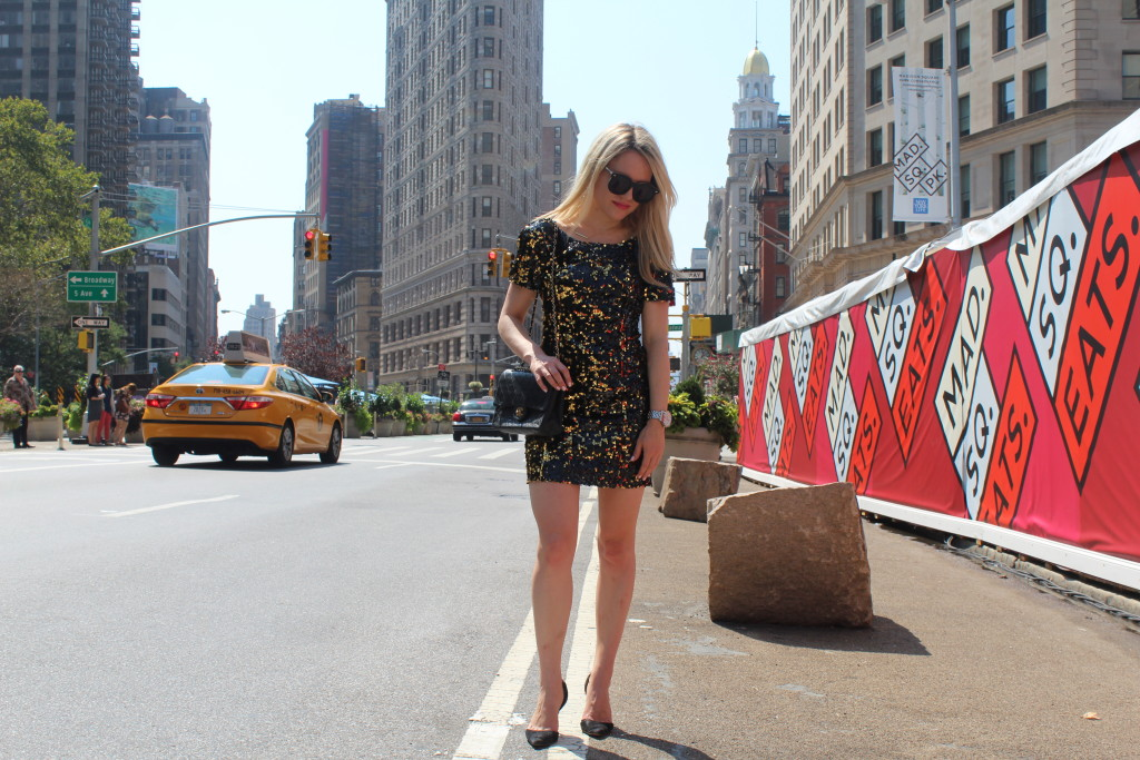 Caitlin Hartley of Styled American sequin Milly dress