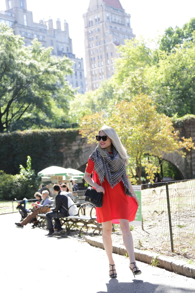 Caitlin Hartley of Styled American fashion blogger in Central Park