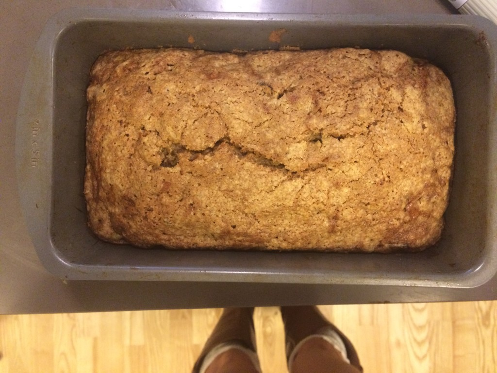 Caitlin Hartley of Styled American homemade zucchini bread recipe