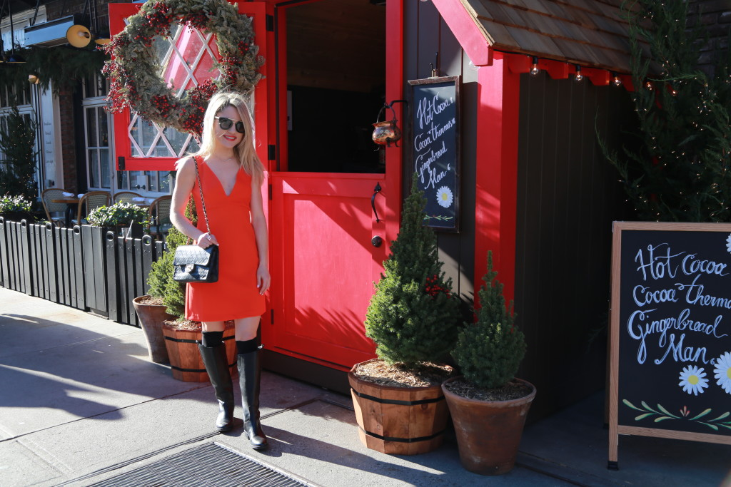Caitlin Hartley of Styled American the standard hotel at Christmas