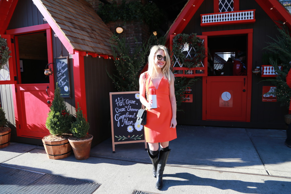 Caitlin Hartley of Styled American hot cocoa and gingerbread house