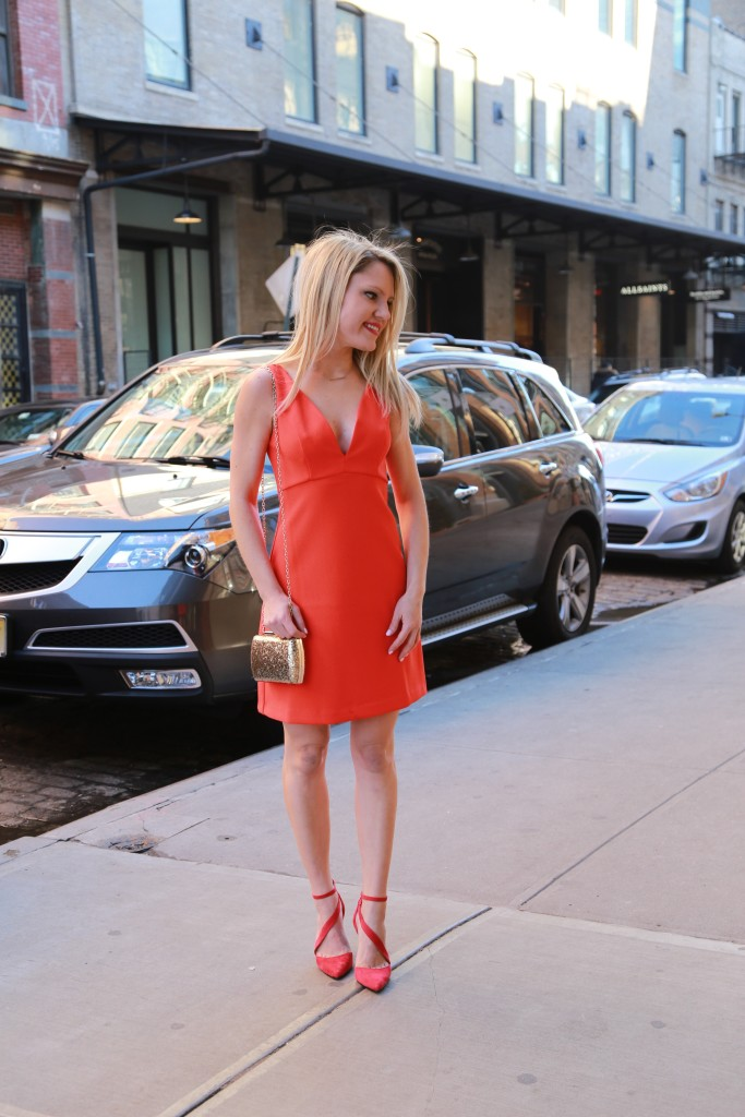 Caitlin Hartley of Styled American red dress asos style, affordable red dress