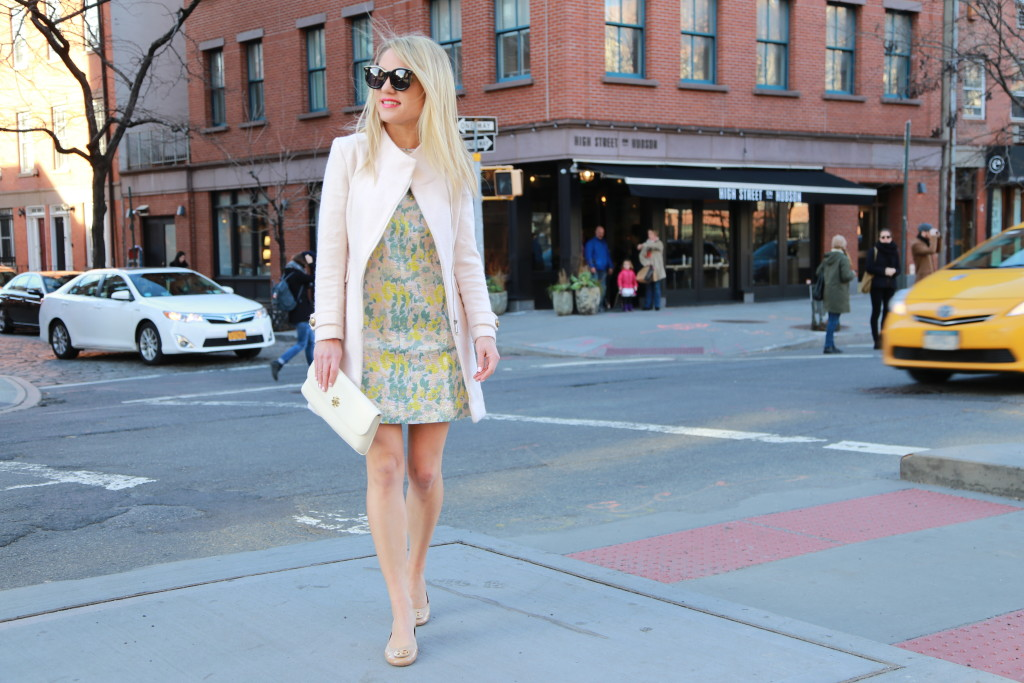 Caitlin Hartley of Styled American classy floral dress