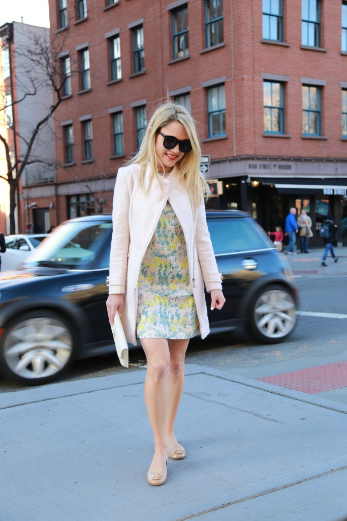 Caitlin Hartley of Styled American floral dress for Easter Sunday