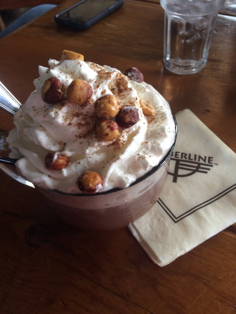 Caitlin Hartley of Styled American spiked hot coco with hazelnuts