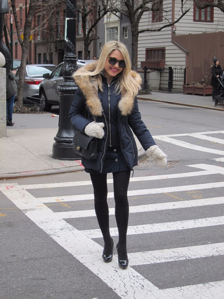 Caitlin Hartley of Styled American Winter street style