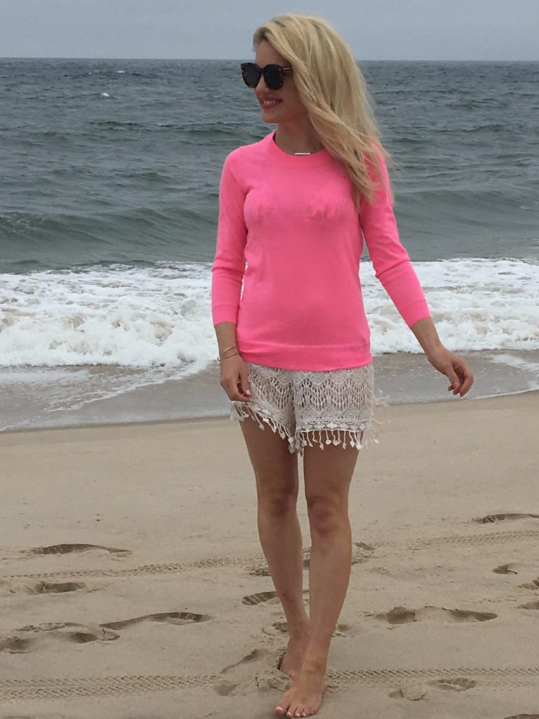 Caitlin-Hartley-of-Styled-American-in-tassel-shorts-cover-up