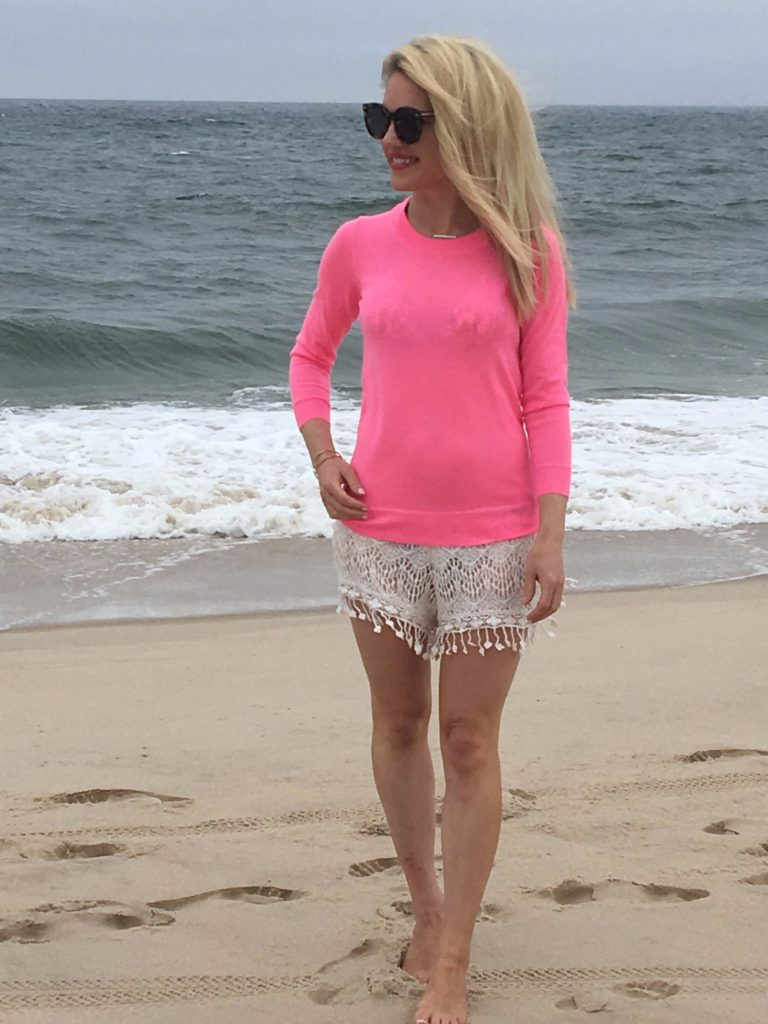 Caitlin-Hartley-of-Styled-American-pink-top-tassel-shorts