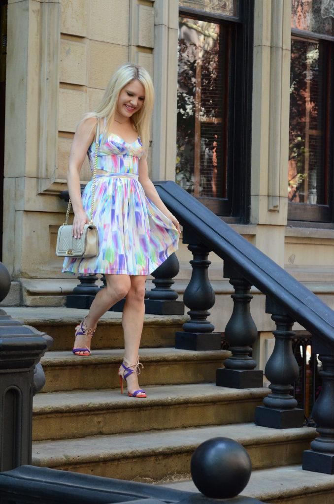 colorful-halter-dress