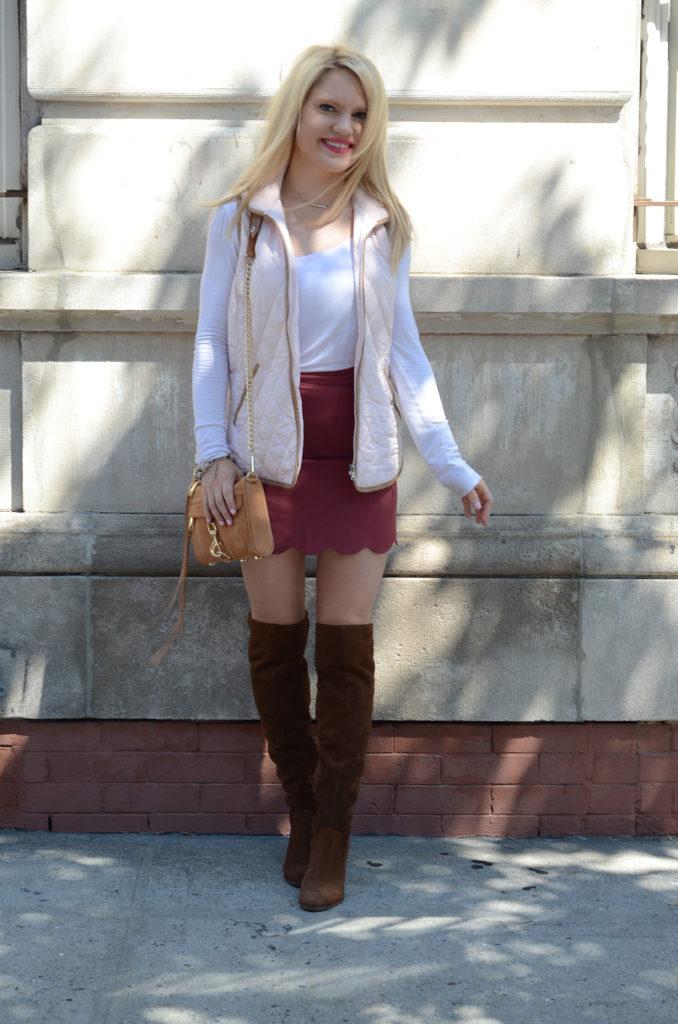 pink-ralph-lauren-vest-maroon-skirt-suede-boots