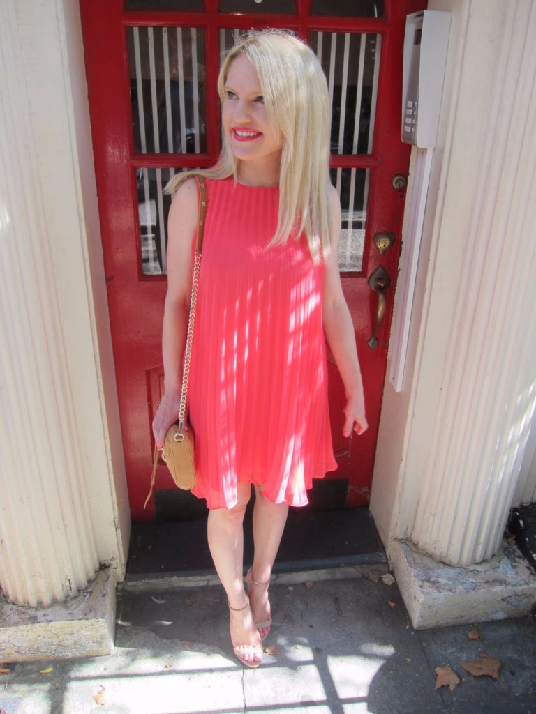 red-pleated-short-dress