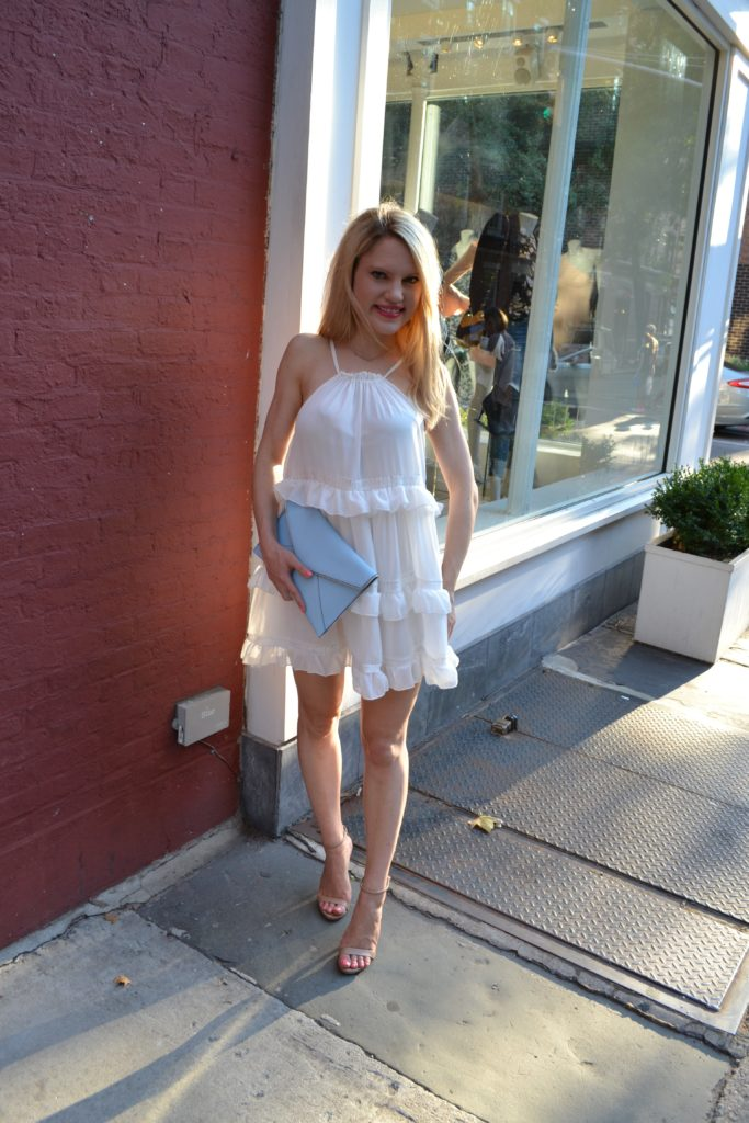 white-dress-nude-sandals