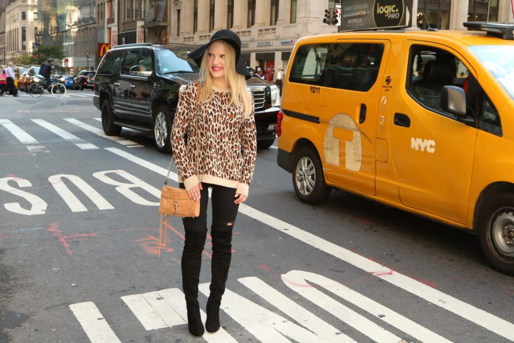 leopard-sweater-black-skinnies-black-over-the-knee-boots http://styledamerican.com/the-perfect-designer-boots-dupe/