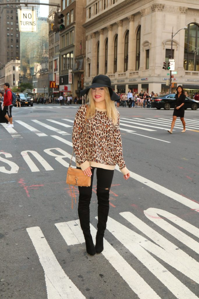 leopard-fall-style http://styledamerican.com/the-perfect-designer-boots-dupe/