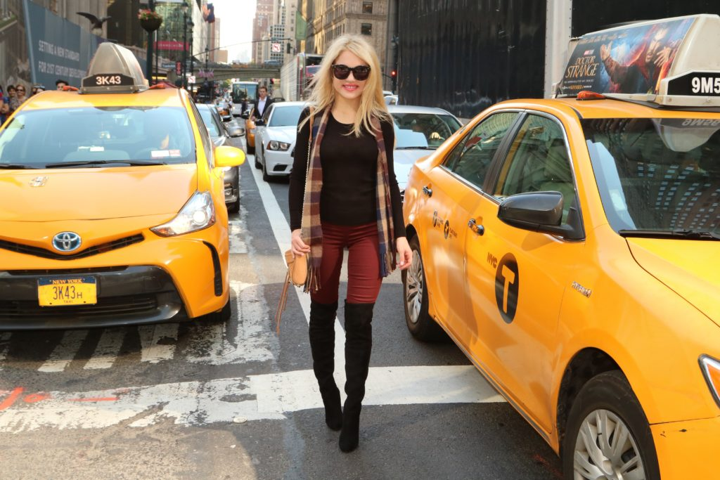 nyc-traffic http://styledamerican.com/burgundy-leggings/