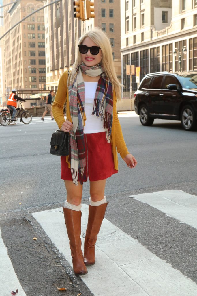 colorful-fall-outfit http://styledamerican.com/shades-of-fall/