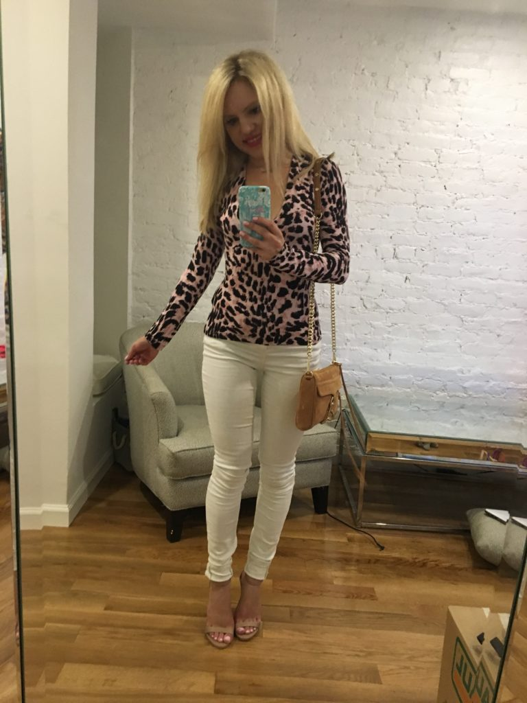 leopard-top-white-denim-nude-heels http://styledamerican.com/american-favorites-round-up/