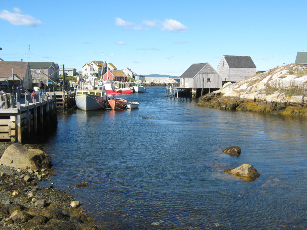 Peggy's-Cove-boats-Nova-Scotia http://styledamerican.com/nova-scotia/