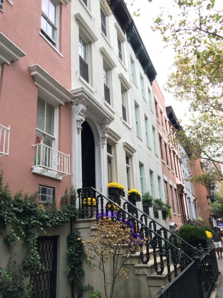 greenwich-village-pastel-brownstones http://styledamerican.com/american-favorites-fall-edition/