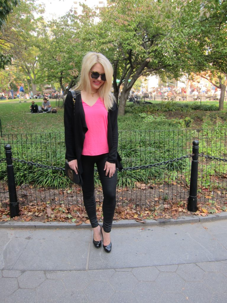 Fall in Washington Square Park, fall wardrobe