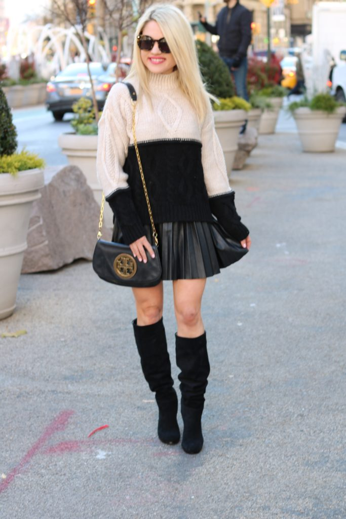 sweater-skirt-winter-style http://styledamerican.com/where-to-get-designer-bags-for-less/