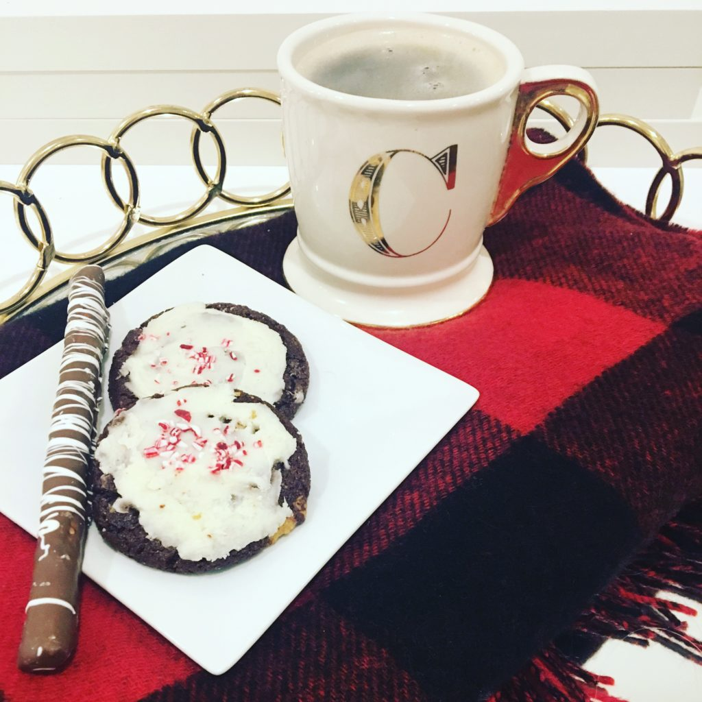 christmas-cookies-gold-tray-monogramed-mug http://styledamerican.com/winter-edits/