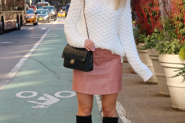 PINK LEATHER FROM CHICWISH