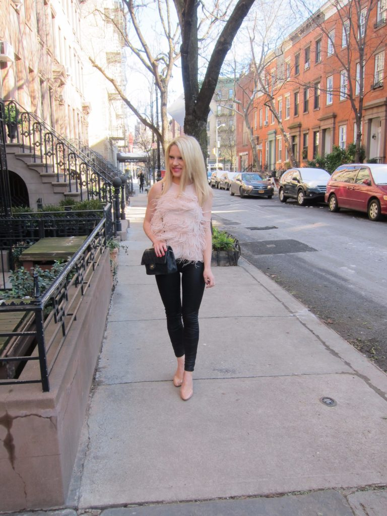 FEATHER-TOP-AND-MY-FAVORITE-LEGGINGS-UNDER-$85! http://styledamerican.com/feather-top-and-my-favorite-leggings-under-85/