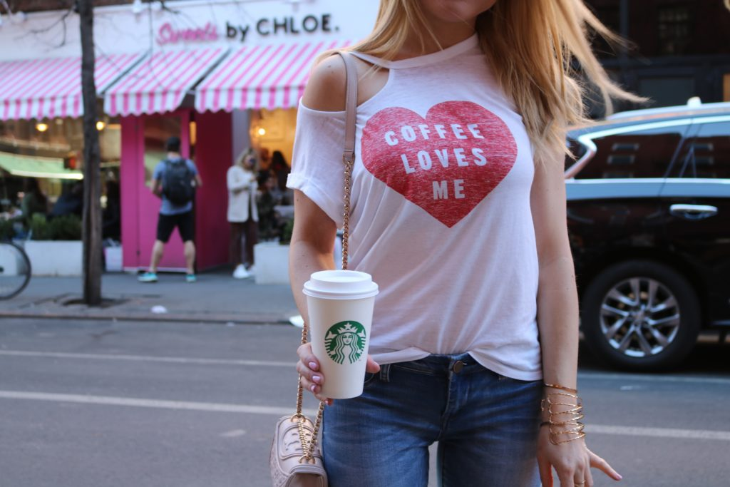 heart coffee shirt