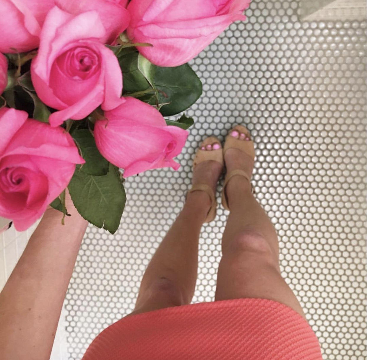 from above pink roses coral dress, INSTAGRAM ROUNDUP: SUMMER IN THE CITY