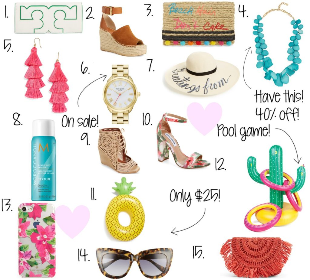 summer edits, beach clutch, beach hair don't care, inflatable pool toys, summer picks, summer fashion