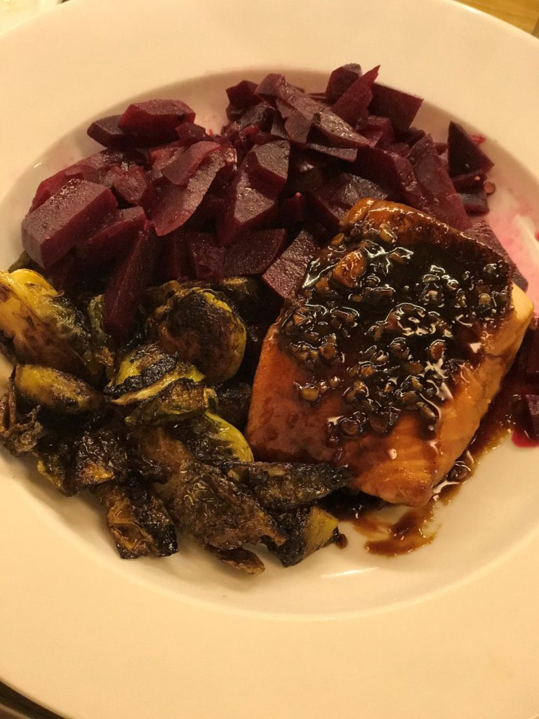how to make beets, how to make caramelized brussel sprouts